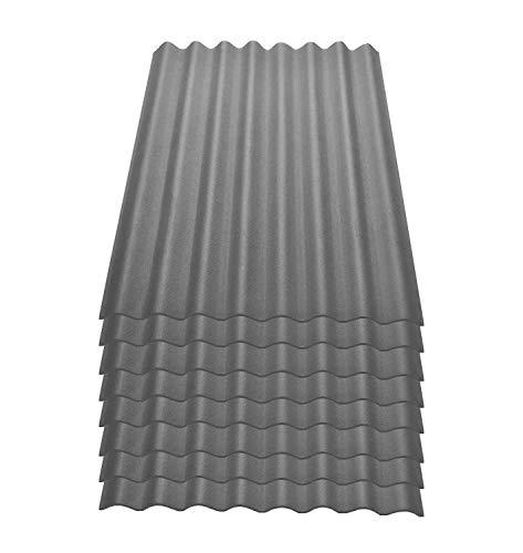 Onduline Easyline Dachplatte Wandplatte Bitumenwellplatten Wellplatte 8x0,76m² - grau