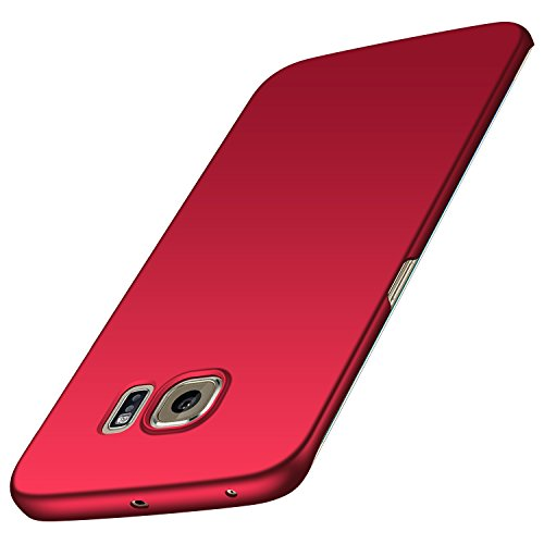 Anccer Cover per Samsung Galaxy S6 Edge Plus, [Alta Qualità] [Ultra Thin] Anti-Scratch Hard PC Case Custodia per Galaxy S6 Edge Plus (Non adatto per Galaxy S6 Edge)-Rosso liscio