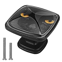キッチンキャビネットノブ4個セット-プルノブ引き出しとドレッサーハンドル- 黒猫