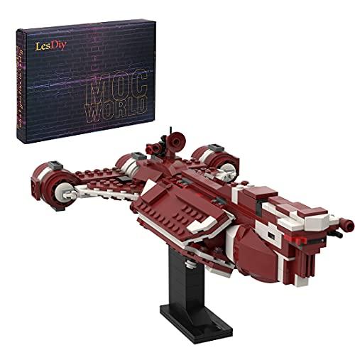 WWEI Tecnica - Croce spaziale, 439 pezzi, Consular Class Cruiser mattoncini da costruzione, nave spaziale compatibile con Lego 30242 Star Wars Republic Frigate