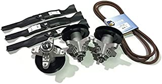 Outdoor Power Deals RZT50, Mustang 50, Spindle Kit with Blades Belt 918-04126A 918-04125B R11480