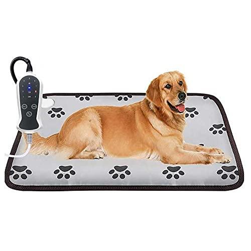 Alfombrilla Calefactora para Perros Almohadilla Eléctrica Inteligente De 9 Engranajes para Mascotas Térmica Eléctrica Mantas Cama De Invierno para Gatos Cojín para Calentar Mascotas-46 * 71Cm