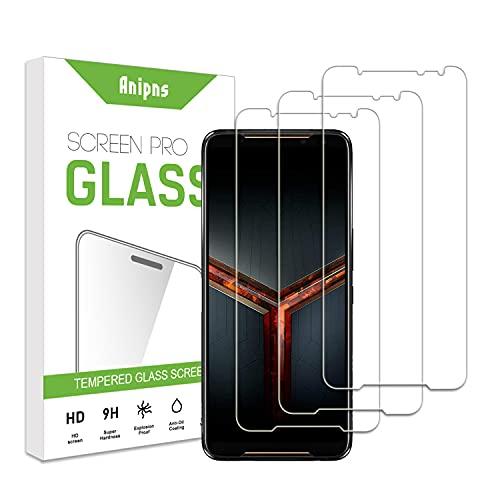 ZCIBN [3 pezzi] Proteggi schermo in vetro temperato,adatto per Asus ROG Phone 2 [durezza 9H] [Resistenza ai graffi] [Senza bolle] [Alta definizione] [Facile da pulire],Asus ROG Phone 2