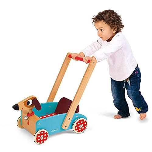 Janod J05995 – Lauflernwagen aus Holz, Crazy Doggy - 3