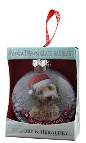 Santa Paws Glass Ornaments Ornament, Multicolor