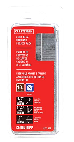 CRAFTSMAN Brad Nails, 18GA Project Pack (CMBN18PP)