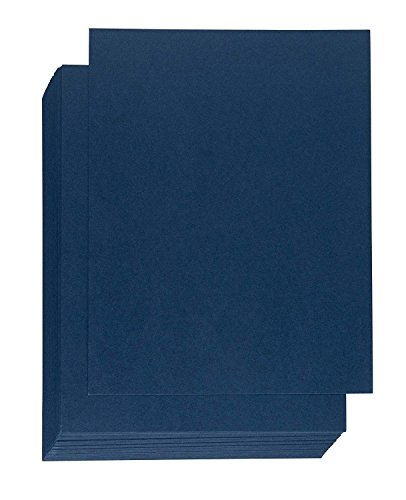 Binding Presentation Cover - 50-Pack Report Cover Paper, Letter Sized Cardstock Paper for Business Documents, School Projects, Un-Punched, 300GSM, Navy Blue, 8.5 x 11 inches