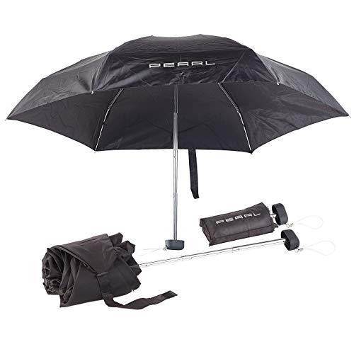 PEARL Minischirm: Mini-Regenschirm mit Transporthülle, extraleicht & superkompakt, 16 cm (Ultraleichter Regenschirm)