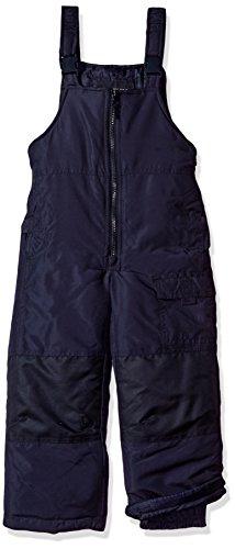 LONDON FOG Boys' Little Classic Heavyweight Snow Bib Ski Pant Snowsuit, Navy/Midnight, 7