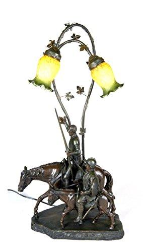 Figura Decorativa con Luz Don Quijote y Sancho Panza