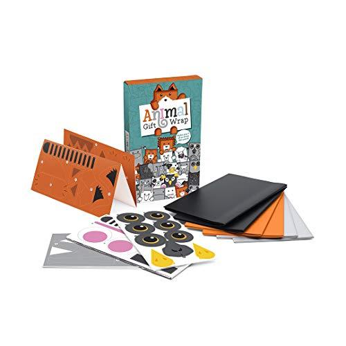 Luckies of London Geschenkpapier mit Tiermotiven - super süßes, originelles Geschenkpapierset