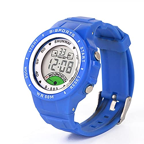 Reloj Niño Yuan Ou Reloj de Pulsera de Cuarzo electrónico para niños, para niños, niñas, 50 m, Relojes para Estudiantes a Prueba de Agua, Coloridos