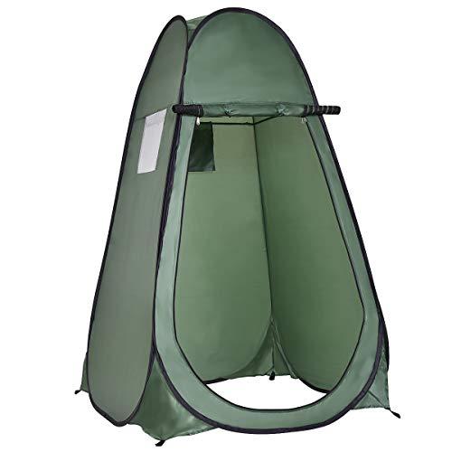 DREAMADE Pop-Up Umkleidezelt, Duschzelt Toilettenzelt Camping Faltzelt, Pop Up Zelt Lagerzelt Wurfzelt für Outdoor Strand Angel Camping Wandern, 190 x 120 x120 cm (Grün)