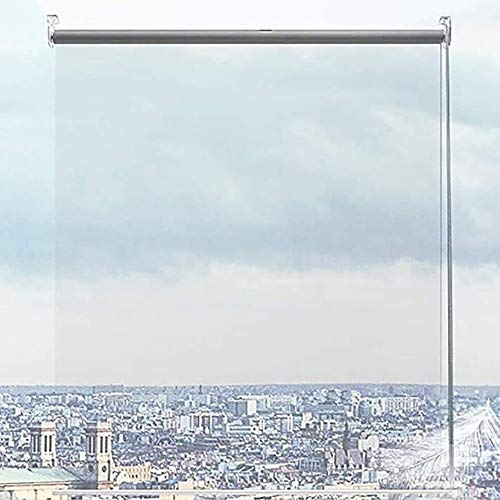 ZLI Persianas Enrollables Persiana Enrollable Transparente de 80cm/100cm/120cm/140cm de Ancho, Sombras Transparentes Impermeables del Gazebo de Oficina de la Ventana del Balcón (Size : 130×200cm)
