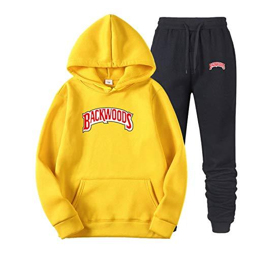 N\P Primavera y otoño Backwoods Hoodies Ropa Deportiva Impresa Traje de suéter con Capucha Hip-Hop para Hombres 3XL