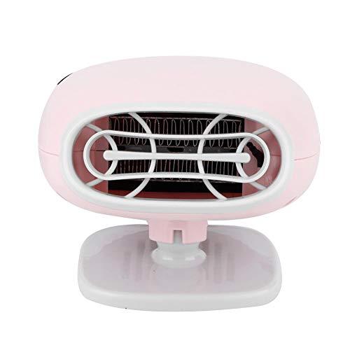 Qiilu - Calentador de coche portátil, ventilador de refrigeración del calefactor de coche para parabrisas, desempañador interior de calefacción rápida de 12 V, ventilador de parabrisas, eliminador de