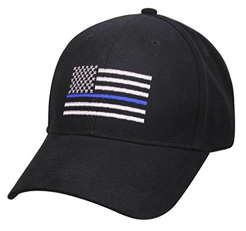 Rothco Thin Blue Line Flag Low Profile Cap, Black