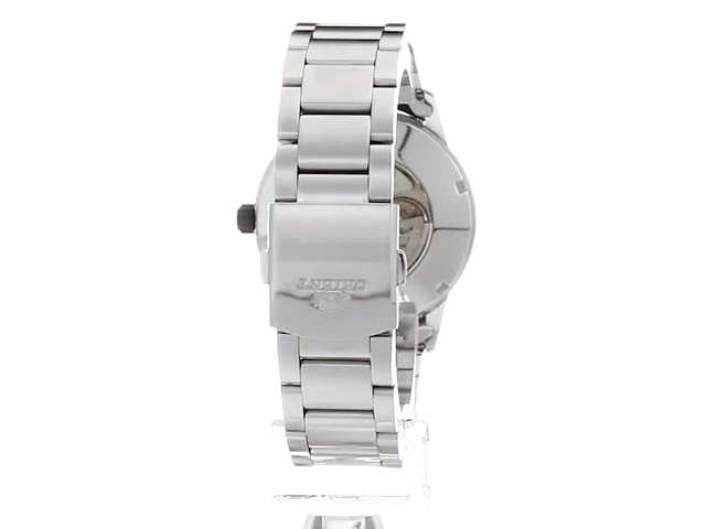 Orient Men's Sentinel Japanese-Automatic Watch with Stainless-Steel Strap, Silver, 22 (Model: FAC05001B0)