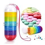 Botes à pilules 7 Jours sur 7, Heure, après-midi, boîte, pilulier, boîte, casier, Distributeur, pour, suppléments, planificateur de Voyage, sur Ordonnance