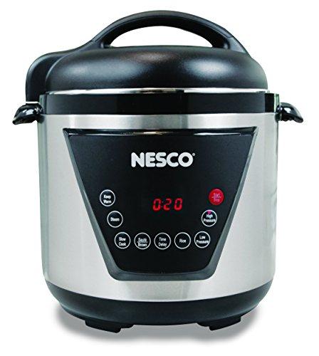 Nesco American Harvest Nesco PC6-13 Pressure Cooker, 6 Quart, Silver/Black