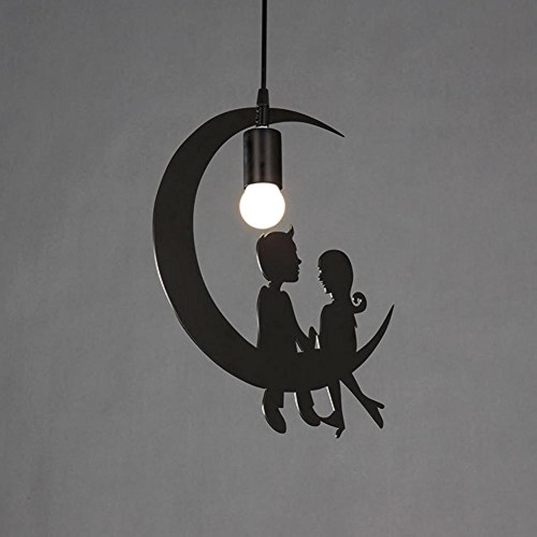 AOKARLIA LED Pendelleuchten Lampen Kronleuchter, Birdie Form Rostfreier Stahl Halterung Für Wohnzimmer Speisesaal Kaffee [Energie Klasse A +], A