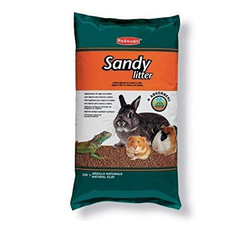 Padovan Sandy Litter - Arenero higiénico de Arcilla para roedores y pájaros...