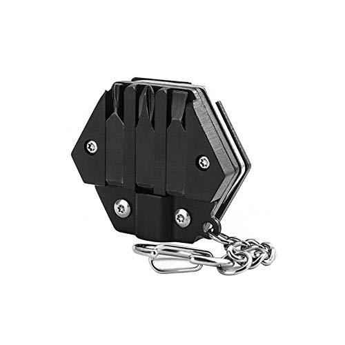 Eipek Destornillador llavero con moneda plegable para herramientas de exterior con moneda hexagonal, 1 unidad