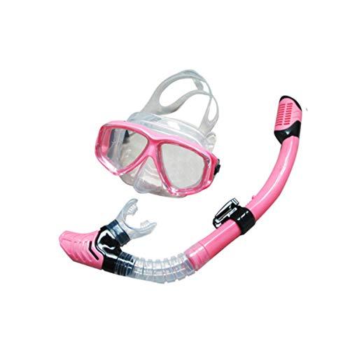 Gymy Gafas de buceo para adultos y niños con máscara antivaho para buceo, color azul
