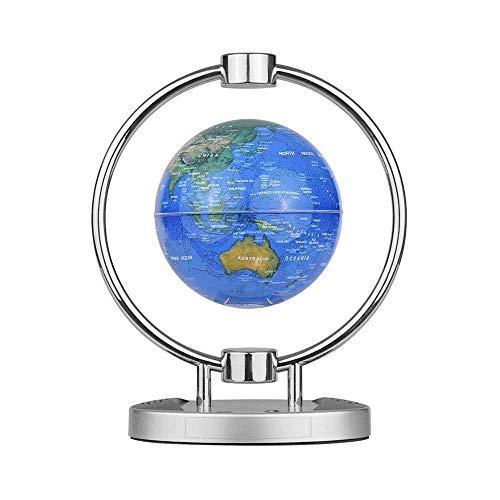 Globo de Leviación Magnética de 6 Pulgadas, Altavoz Inalámbrico BT Globo de Mapa del Mundo Flotante con Soporte de Base de Luz LED de Colores