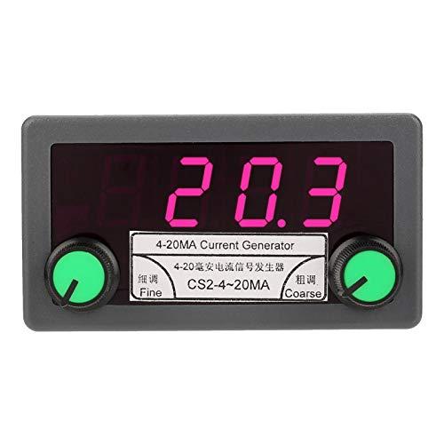 Generador de corriente - 4-20mA Generador de señal analógica de corriente digital Ajuste grueso/fino Salida de corriente constante