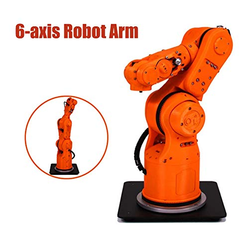 MYLW 6-Axis Robot Arm 6 DOF DIY Robot Arm High Precision Mechanical Payload 1Kg for Robotic Education STEM Educational Toys