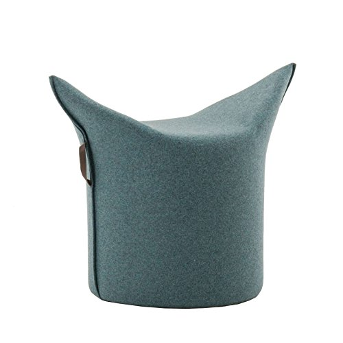Werther – Die Möbelmanufaktur Zipfel Hocker 78 x 43 cm, h 54 cm - blaugrau