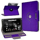 UC-Express TrekStor Primetab P10 Tablet Hülle Tasche Schutzhülle Case Schutz Cover Drehbar, Farbe:Lila