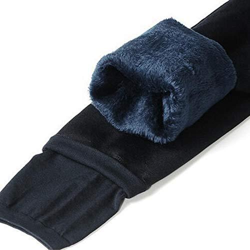 Fitnesshose Yogahose Damen High Waist Legging Winter Warme Große Legging Solid Push Up Leggings Dicke Frauen M Navy Kost