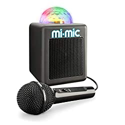 MINI BLUETOOTH KARAOKE MACHINE: wirelessly connect, play music and sing along ECHO FUNCTION: make it sound like your singing in a huge arena with the voice echo function NUMEROUS LED LIGHTS: with the multicolour LED disco ball, matches the beat of th...