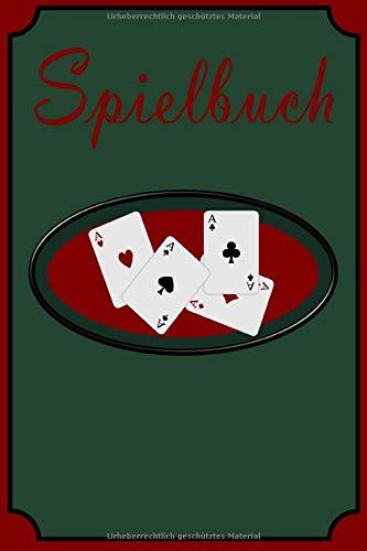 Notizbuch Kartenspieler A5 120 Seiten kariert Casino Glücksspiel: Spielbuch Pokerspieler Kartenspiel Schreibblock Spielkarten Pokerspiel Geschenk Männer Frauen Geburtstag Herrentag Weihnachten