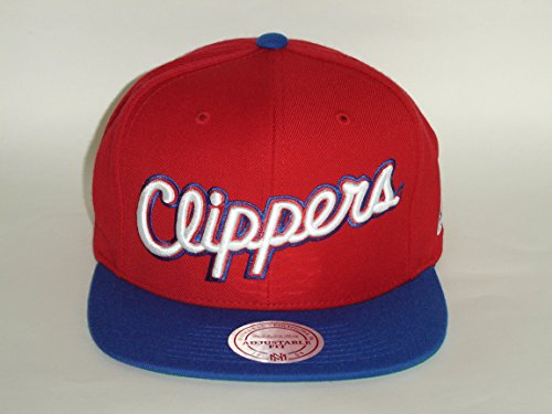 Mitchell & Ness NBA Clippers Acrylic Red 2Tone Snapback Cap