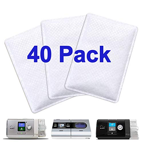 40 Pack CPAP Filters Premium Disposable Air Filter, Universal Replacement Filter for Resmed Airsense10, Aircurve10, Airstart, Resmed S9 Series CPAP Standard Machines
