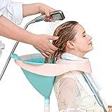 JJDD'G Haar-Waschbecken Leicht Bett Shampoo Handliches Haar Waschbecken Tray Shampoo Basin Verwendung Im Bett Waschbecken Für Behinderte Schwangere Ältere,Blau -