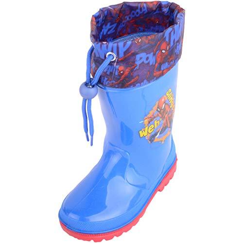 Absolute Footwear Gummistiefel für Kinder, Jungen, wasserdicht, Spider-Man, Gummistiefel, Blau - blau - Größe: 32 EU