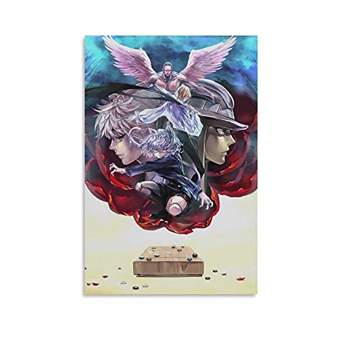 WONNZ Anime Poster Hunter×Hunter Menthuthuyoupi, Neferpitou, Meruem Canvas Art Prints Poster Dormitorio Wall Mural Modern Family Home Decor 60x90 cm
