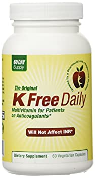 Multivitamin - No Vitamin K - Safe for People on Blood Thinners - 60 Vegetable Capsules  Two Months Supply