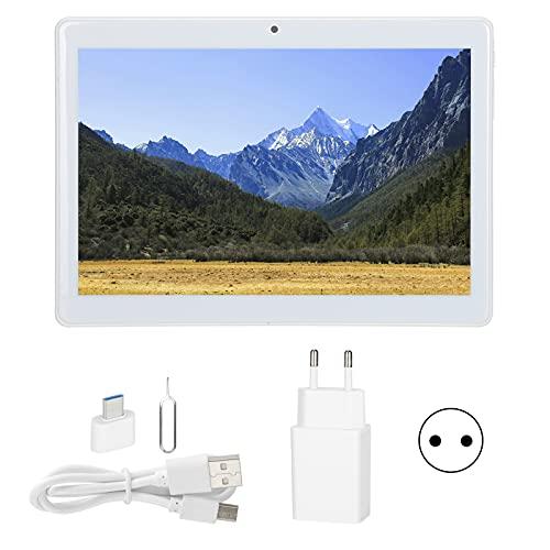 Tablet PC de 10.1 Pulgadas, 32GB ROM Octa-Core CPU 4G USB C Tableta LTE de Oro Rosa para Estudio, Juego, Trabajo 100‑240V(Enchufe de la UE)