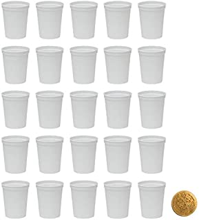 White Stadium Cups, Pack of 25, Blank 16 oz Plastic Cups