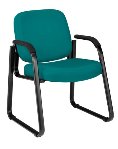 OFM 403-802 Reception Chair with Arms - Fabric Guest Chair, Teal