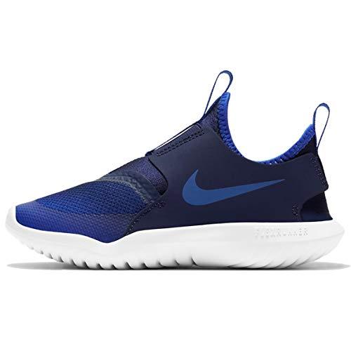 Nike Flex Runner (PS), Zapatillas para Correr Unisex niños, Juego Royal Game Royal Midnight Navy White, 33.5 EU