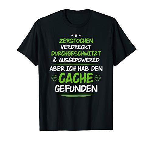 Geocacher Zerstochen & Durchgeschwitzt Geocaching T-Shirt