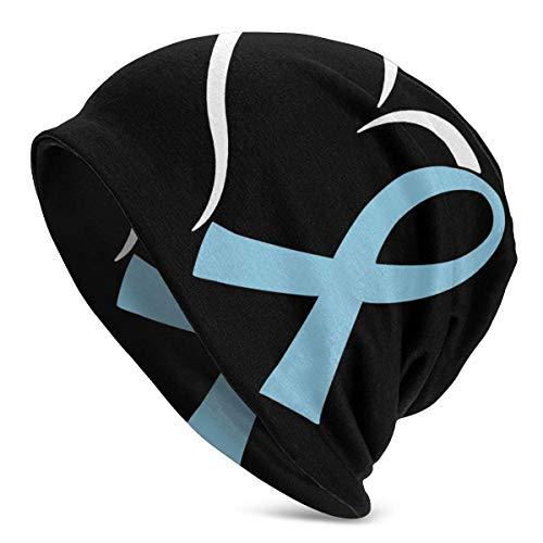 shenguang Heart Prostatakrebs-Bewusstsein Unisex Solid Color Beanie Hat - Dehnbare...