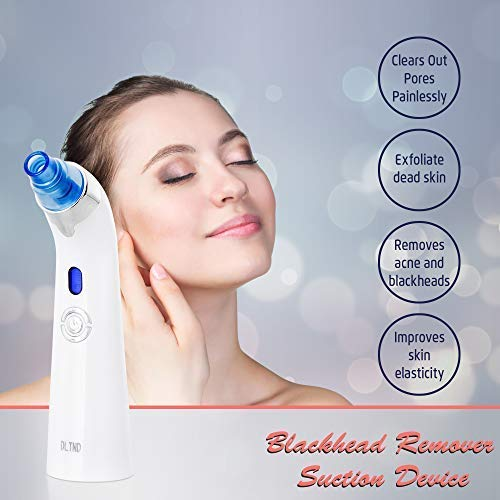 Vacuum Blackhead Remover, Comedone Acne Zit Extractor Suction Tool, Pores Cleaner Eliminator Exfoliating Machine, Electric Facial Skin Treatment Painless Rechargeable Multifunctional Microdermabrasion