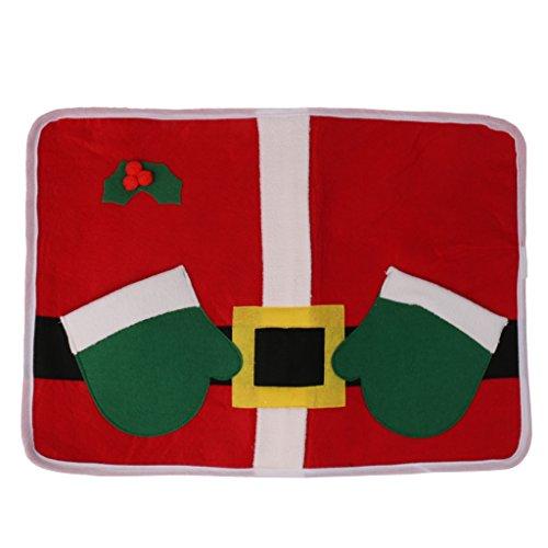 Manteles de Mesa de Navidad Servilletero Tazón Manteles Individuales de Comida Decoración de Fiesta de Cena de Navidad